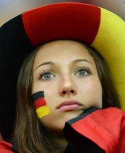 Фанатка немецкой сборной по футболу