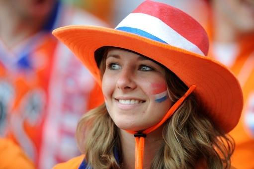 Девушка футбола. Голландия.