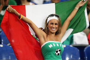Болельщица мексиканской сборной