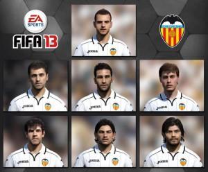 FIFA 13 лица игроков Валенсии
