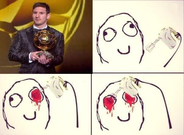 Месси получил Золотой мяч 2013