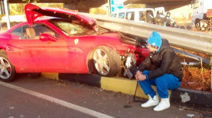 Милевский попал в аварию