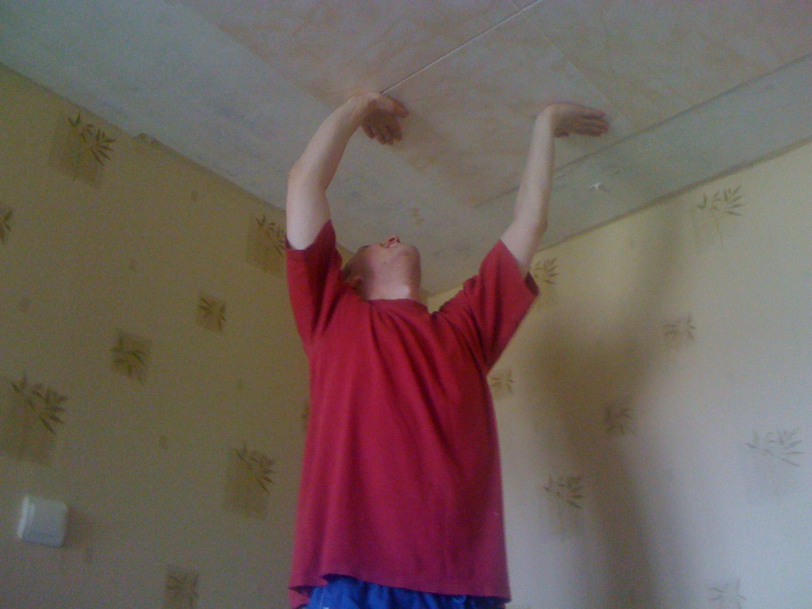 Как поклеить пенопластовую плитку на потолок своими