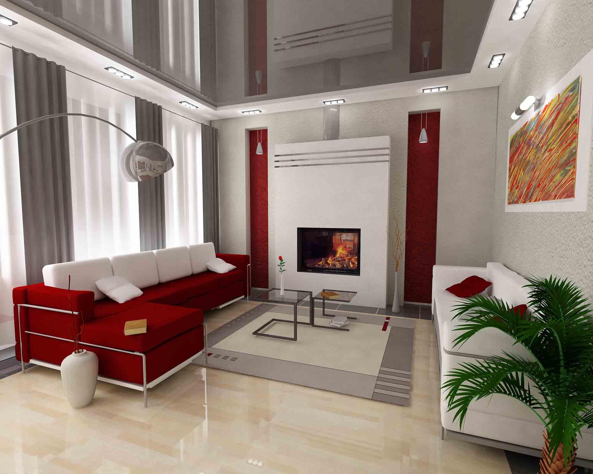 Дизайн интерьера потолка квартиры