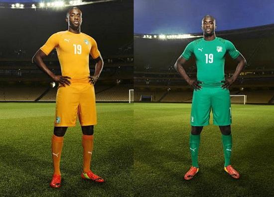 Форма сборной Кот-д'Ивуара 2014