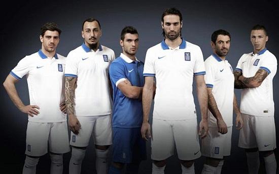 Форма сборной Греции 2014