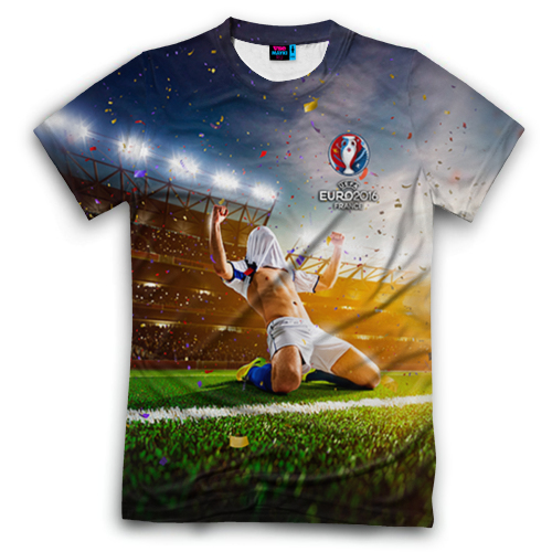 Футболка с символикой Евро 2016